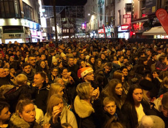 Safety concerns cut Grafton Street's Christmas light ceremony short last night