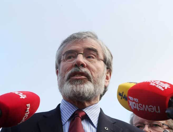 Gerry Adams expected to make Dáil statement this evening on murder of Brian Stack