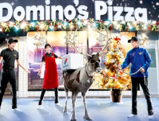 Domino's employs reindeer to deliver pizzas in blizzard-beaten Japan