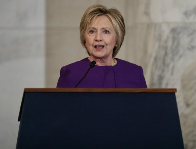 Hillary Clinton warns of 'real world consequences' of fake news 'epidemic'