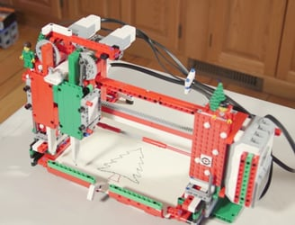 Let Lego help out this year with a Christmas card writing robot
