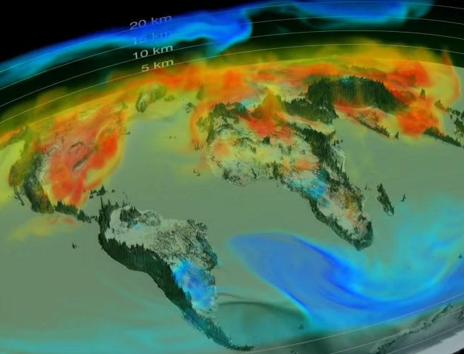 WATCH: New NASA video shows how greenhouse gases move around the Earth