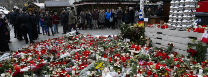 Video shows lorry racing into Berlin Christmas market in deadly attack