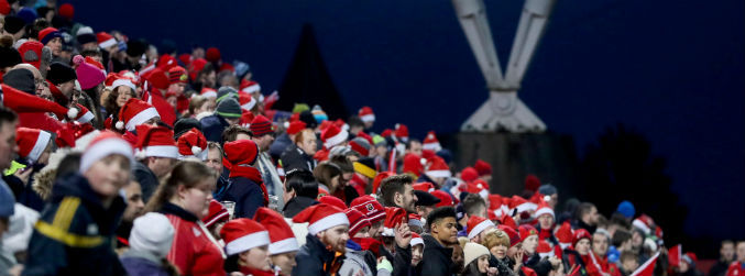 PRO12 sees record festive crowds for the Round 11 fixtures