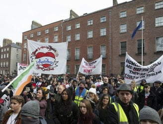 'Home Sweet Home' activists march from Apollo House to Department of Finance