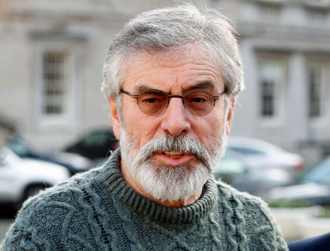 British government rejects claims by Gerry Adams that Brexit will 'destroy' Good Friday Agreement