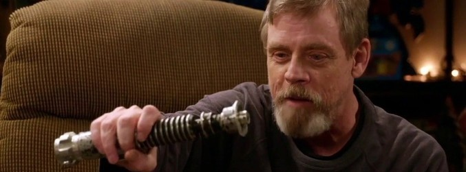 WATCH: Mark Hamill gets reunited with his prop lightsaber and something awakens
