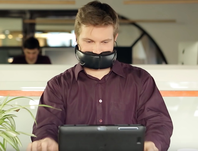 Hushme: The device that gives you an indoor voice and the appearance of Bane