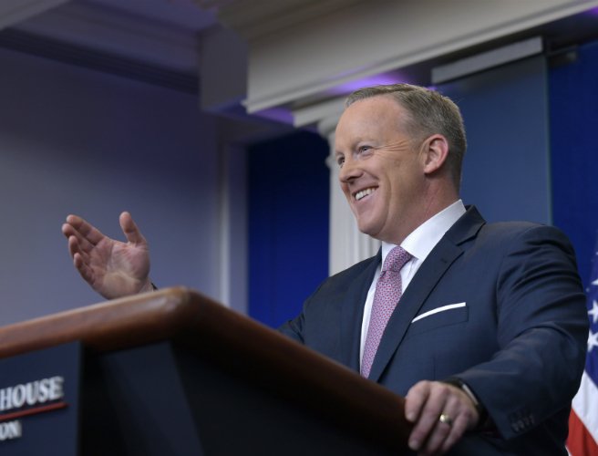 "Trump spokesman says White House intention is ""never to lie"""