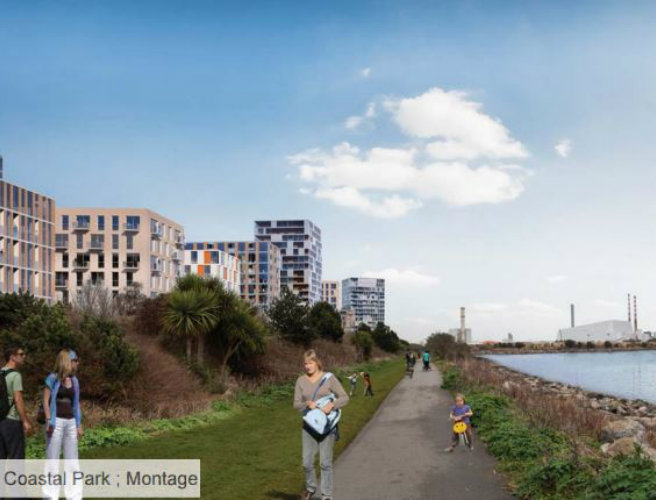 Dublin City Council unveils plans for new south Dublin coastal town