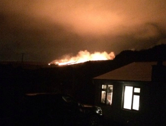 Fire services battle huge blaze in Dublin Mountains