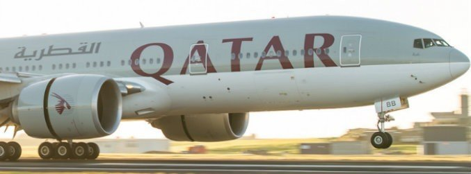 The plane landed in Auckland after a 14,500 km trip from Doha