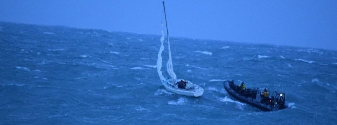 Man rescued from sinking yacht off the south coast