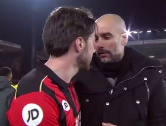 WATCH: Pep Guardiola wishes Harry Arter well ahead of upcoming birth