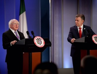 President Higgins meets with Colombian President Santos