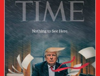 WATCH: Stormy scenes for Donald Trump on latest Time cover