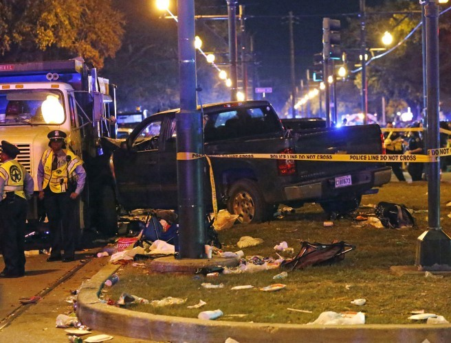 28 injured as truck ploughs into Mardi Gras parade