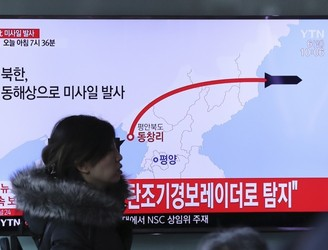 North Korea fires ballistic missiles into sea