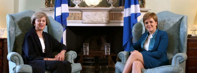 May and Sturgeon in war of words over Scottish independence