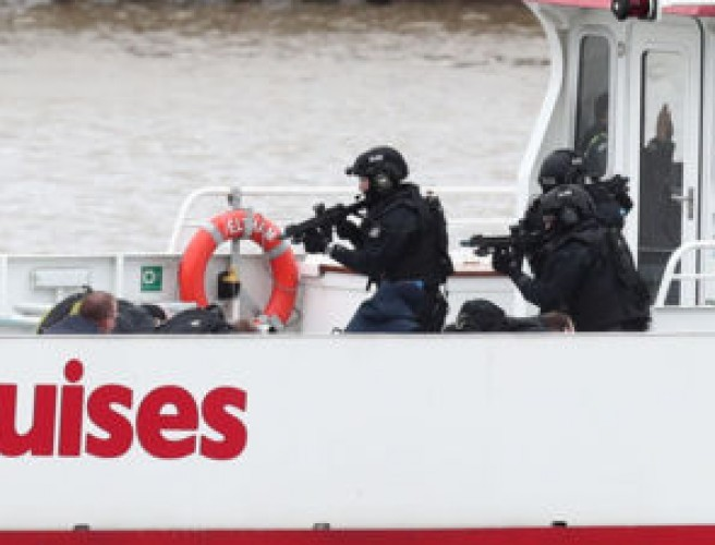 UK police storm boat in hijack test exercise on River Thames