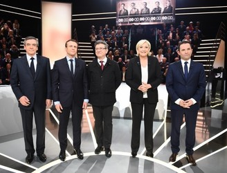 French presidential candidates face off in marathon debate