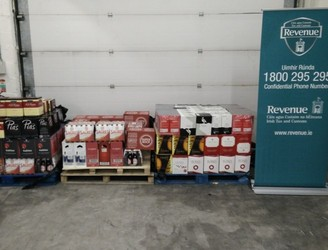 Alcohol worth €15,500 seized at Dublin Port