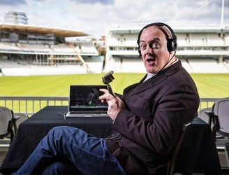 WATCH: Dara Ó Briain tries out cricket commentary at Lord's