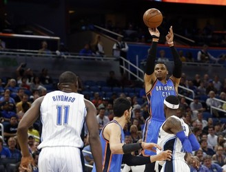 Russell Westbrook scores 57 as triple-double record inches closer