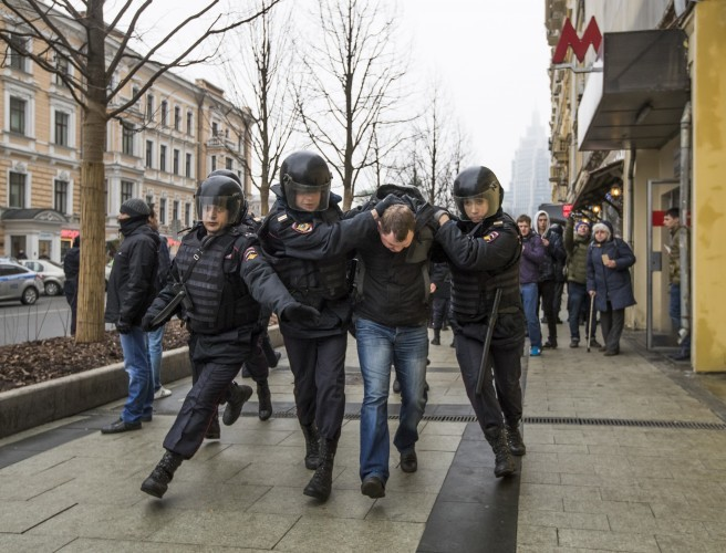 29 detained by police in Russian protests