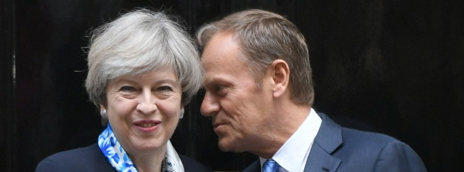 Donald Tusk heads to Downing Street for Brexit talks