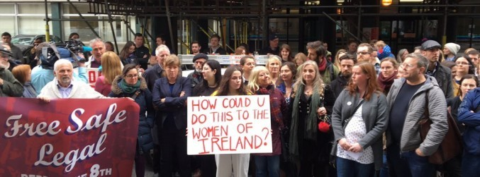 Hundreds attend protest against religious ownership of new Maternity Hospital