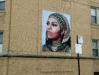 Michelle Obama mural plagiarism shrugged off as 'artistic remix'