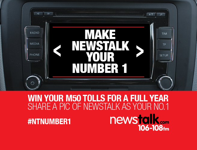 WIN: Your M50 tolls for an entire year everyday this week on Newstalk