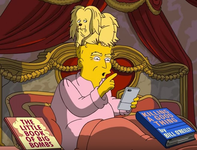 WATCH: 'The Simpsons' takes aim at Trump first 100 days