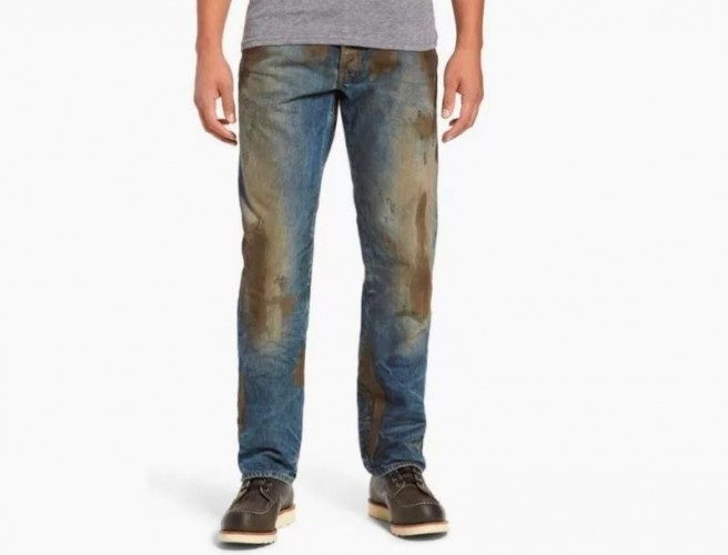 People are paying $425 to buy pre-muddied designer jeans