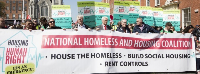 Homeless crisis takes centre stage at Dublin May Day march