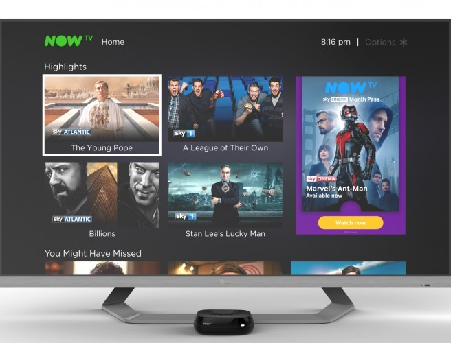 NOW TV brings 'no strings' streaming to Ireland
