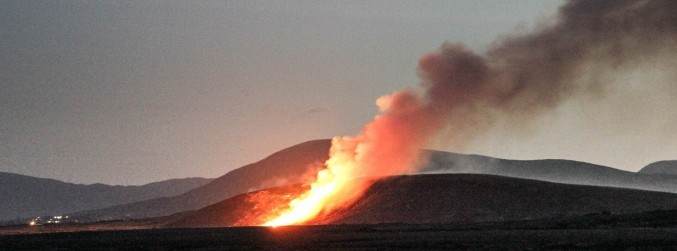 Firefighters battle gorse fires on Achill Island