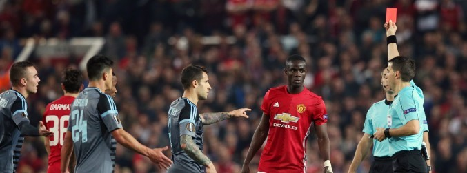 Eric Bailly cannot appeal Celta Vigo red card