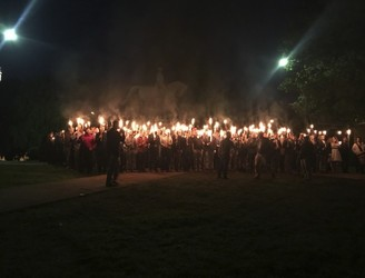 "Torchlight protest in US draws comparisons to ""days of the KKK"""