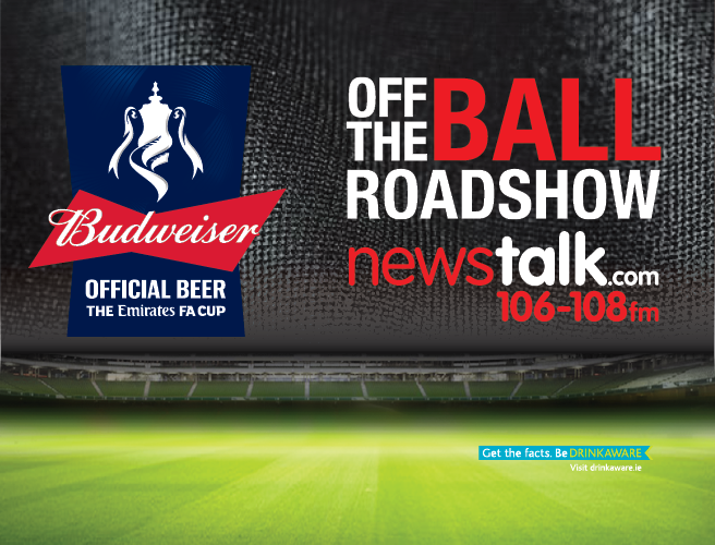 The Off The Ball FA Cup 2017 Roadshow is rolling into The Helix Theatre, Dublin on Thursday 25th May