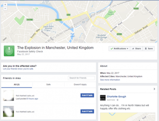 Facebook Safety Check enabled following Manchester Attack