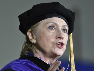 Clinton compares Trump to Nixon during university speech