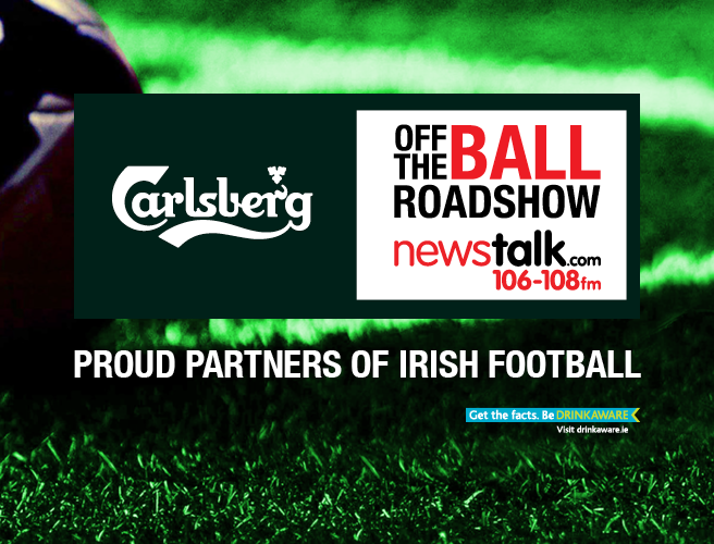 Off The Ball is back on the road with thanks to Carlsberg, proud partners of Irish football