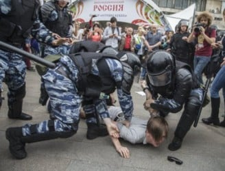 Over 200 arrested in Russian anti-corruption protests