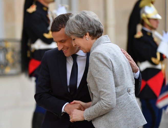 Macron gets cheeky with May as hard Brexit looms large