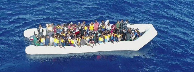 Nearly 350 migrants are rescued by the LÉ Eithne