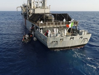 Baby girl born on board Irish naval vessel LÉ Eithne in Mediterranean