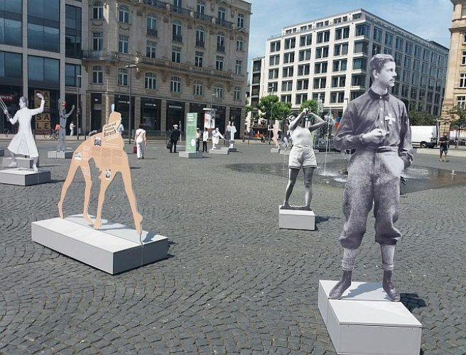 Statues of Nazi-persecuted Jewish athletes destroyed in Frankfurt