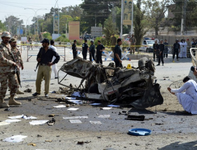 At least 11 killed in twin blasts in Pakistan